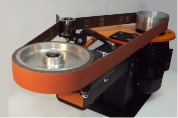 Универсальный ленточно-шлифовальный станок с контактным колесом Ø200м